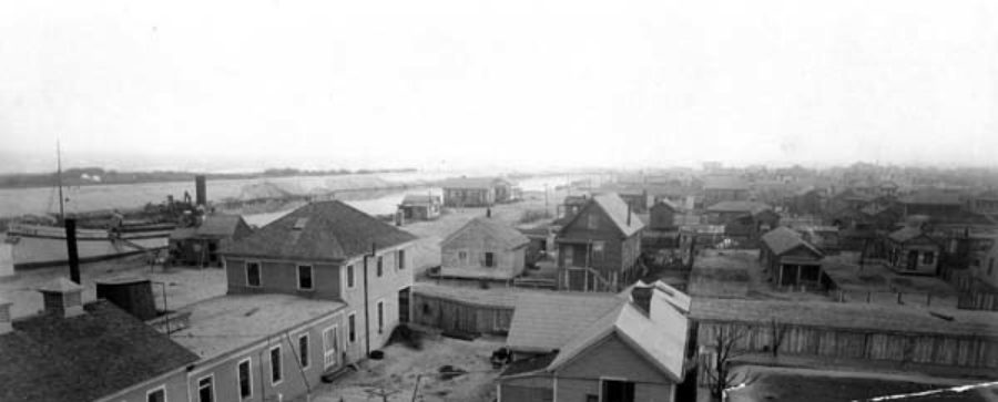 G-59261FF8-1 The grade raising canal entrance at East End of City of Galveston