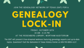 Genealogy Lock-In, October 18th