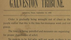 Image of Galveston Tribune, September 11, 1900. Online Workshop: Searching the Galveston Tribune Newspaper