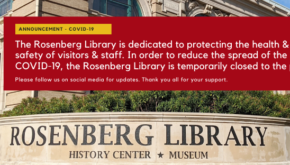 Galveston and Texas History Center Closure