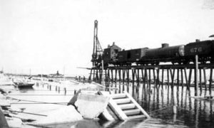 "G-17713FF3.3-1 ""Building a trestle to take the place temporarily of the ruined causeway"""