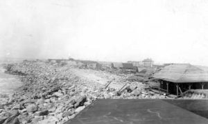 G-17713FF5.1-3 Wrecked buildings at Fort Crockett
