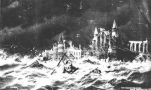 G-1771FF12.1-6 East Broadway, Galveston. During Hurricane. Sept. 8, 1900