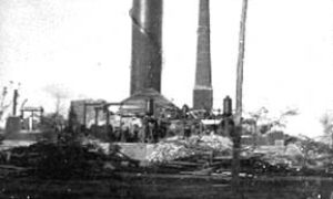 G-1771FF4.2-6 20 & H.  Showing wrecked conditions of the water works.
