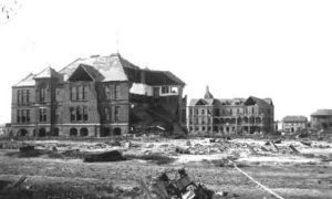 G-1771FF5.1-4 Bath Avenue School (left).  Rosenberg Women's Home (right background).