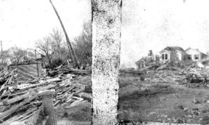 G-1771FF7.13-10 Debris (left) and more debris and houses (right)