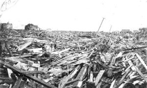 G-1771FF7.14-6 Scene in Galveston after the 1900 Storm