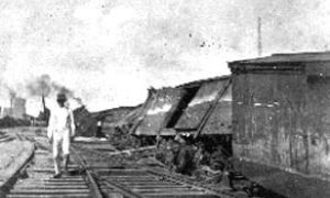 G-1771FF9.1-4 Near Elevator 'A.'  100 cars of wheat were washed from the tracks