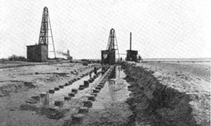 G-5925.1FF1-5 THE GALVESTON SEAWALL.  Showing three rows of 50-ft. piling and one row of 30-ft. sheet piling for foundation and breakwater below the wall.