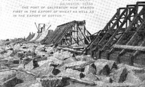 G-5925.2FF3-2 THE GALVESTON SEAWALL.  THE SECTIONS ARE COMPLETED ALTERNATELY.
