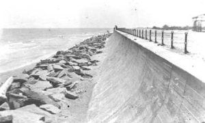 G-5925.3FF6-13 Early View of Seawall including Riptrap and Shoreline