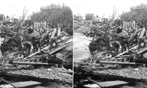SC#146.1-1 Recovering bodies from that awful chaos of Wreckage, Galveston Disaster