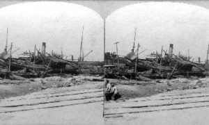 SC#146.1-2 Pier 16 and Relief Boat, Galveston, Texas