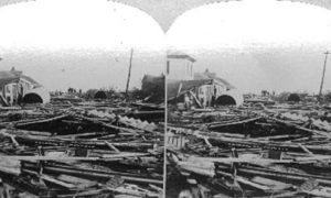 SC#146.1-3 The path of desolation wraught by the great storm at Galveston September 8th 1900