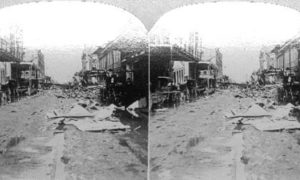 SC#146.1-6 The path of desolation wraught by the great storm at Galveston, September 8th 1900