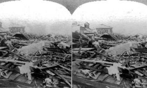 SC#146.2-2 The path of the great Tornado at Galveston, Texas, September 8, 1900