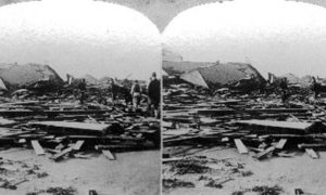 SC#146.2-3 The path of desolation, wraught by the great storm at Galveston, September 8th 1900