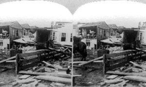 SC#146.2-5 The path of desolation, wraught by the great storm at Galveston, September 8th 1900