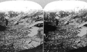 SC#146.2-8 The path of the great Tornado, at Galveston Texas, September 1900