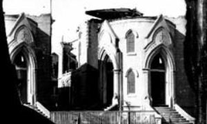 SC#194-54 First Baptist Church, damaged.