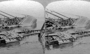 SC#79-16 Galveston Disaster - Schooners upset in the harbor