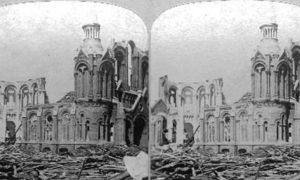 SC#79-22 Galveston Disaster.  Ruins of Sacred Heart Church.