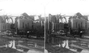 SC#79-28 Wreck of the once beautiful First Baptist Church, Galveston Disaster, 1900