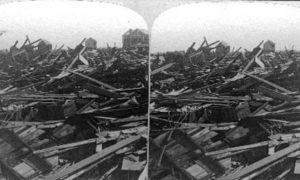 SC#79-5 Great heaps of Wreckage piled high by those mighty waves, Galveston Disaster