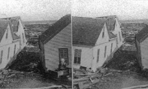 SC#79-8 The Great Galveston Disaster, looking southeast