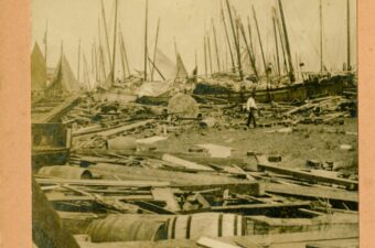 Photo of Galveston harbor in the wake of the 1900 Storm Hiding In Plain Sight: The Galveston Tribune, Saturday, September 8, 1900