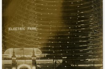 Photo of Electric Park and Casino, Galveston, Texas. circa 1909. Contains writing on the bottom. Electric Park, Part 1