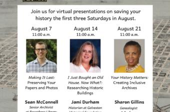 Virtual Preservation Series Saturdays in August