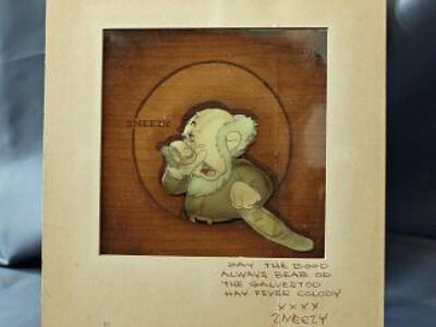 """Cel animation of """"Sneezy"""" from Snow White and the Seven Dwarfs"""