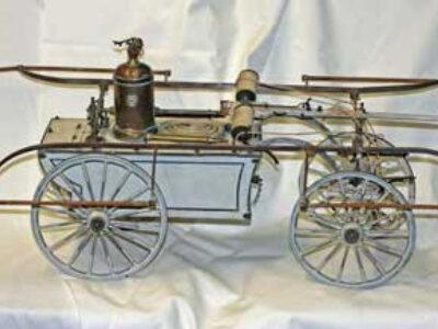 Antique Miniature Fire Pumper