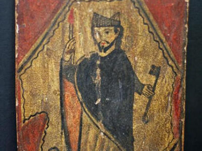 19th Century New Mexican Retablo of St. Peter of Alcantara