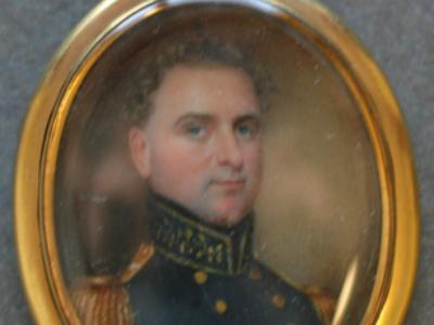Miniature Portrait of the First Mayor of Galveston John Melville Allen