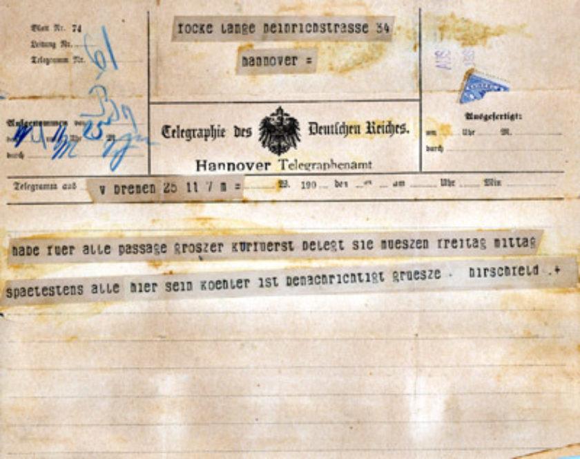 95-0023 Focke 1900 Storm Telegrams