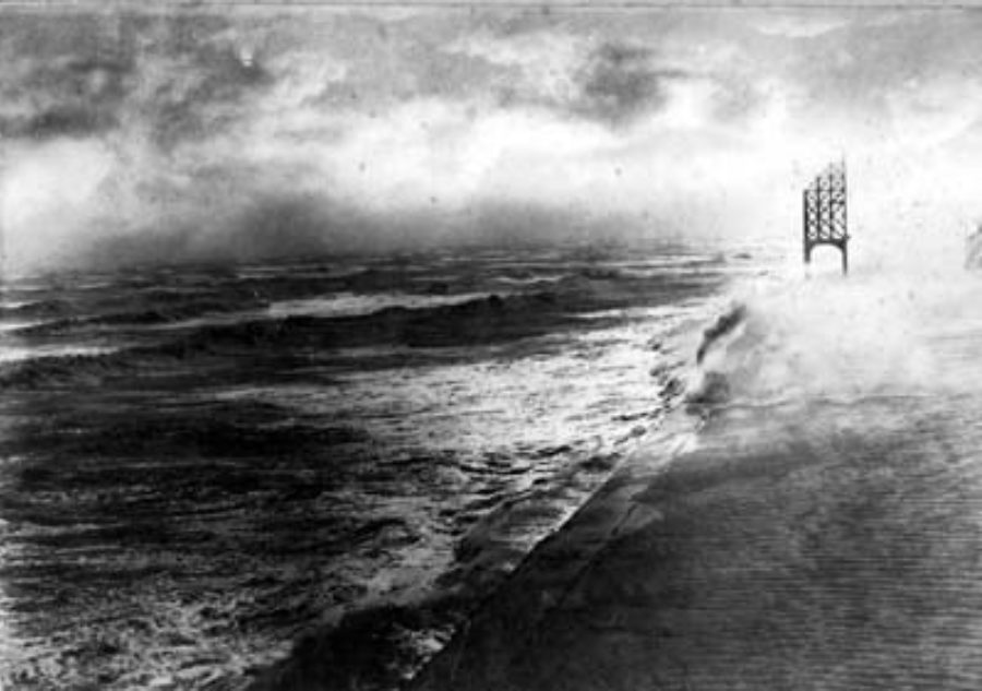 G-17714FF2-14 Seawall during Storm of 1919