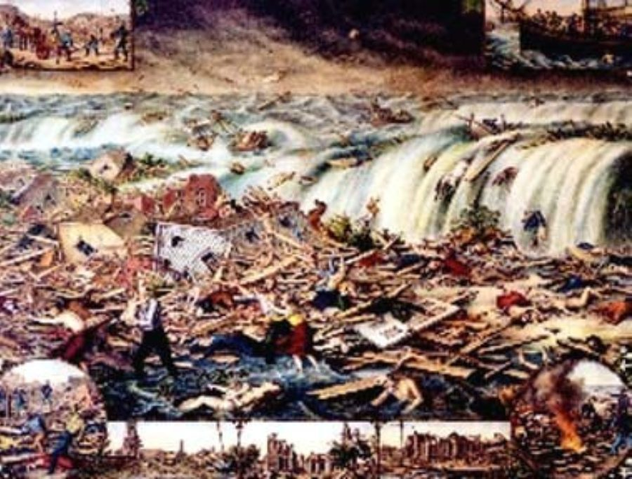 G-1771FF12.1-5 Galveston's Awful Calamity - Gulf Tidal Wave, September 8th 1900