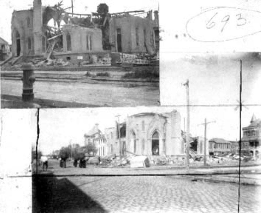 G-1771FF3.5-11 Ruins, 1st Baptist Church