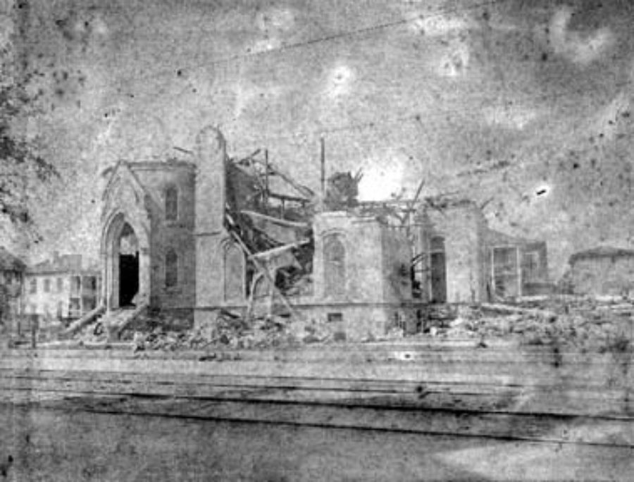 G-1771FF3.5-13 Wreck of First Baptist Church
