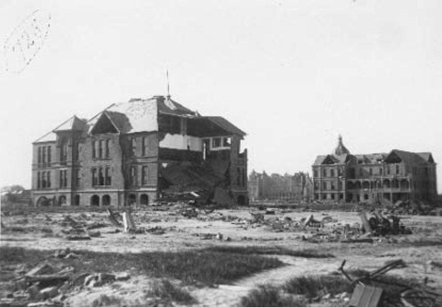 G-1771FF5.1-5 Bath Avenue School (left).  Rosenberg Women's Home (right background).  Similar to G-1771FF5.1-4.
