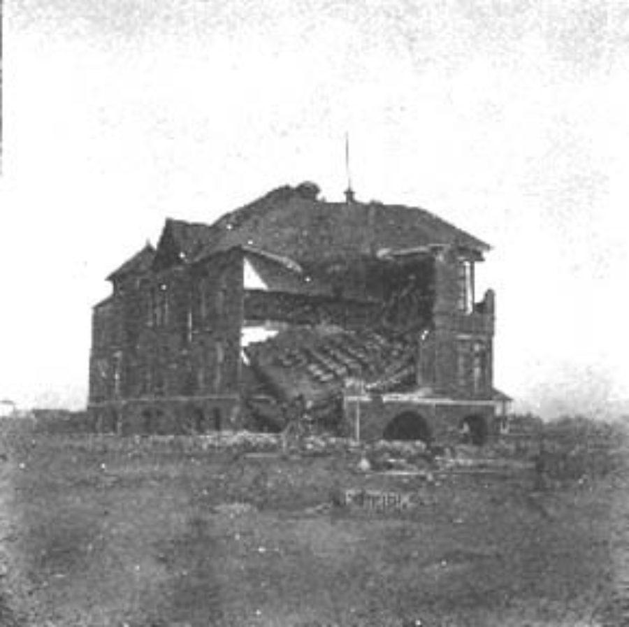 G-1771FF5.1-7 Bath Ave & N.  Bath Ave School, where many took refuge & were saved