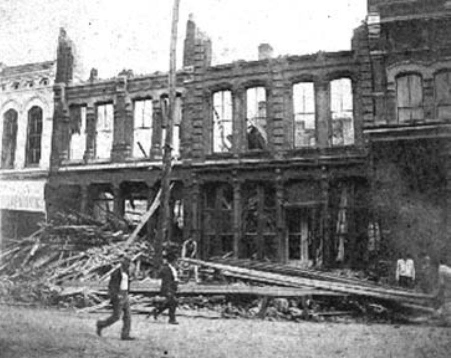 G-1771FF6.2-10 Ritter's Restaurant - Where several prominent men were killed
