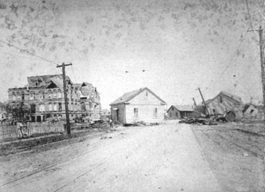 G-1771FF7.14-4 Ruins of Orphans Home, Center street