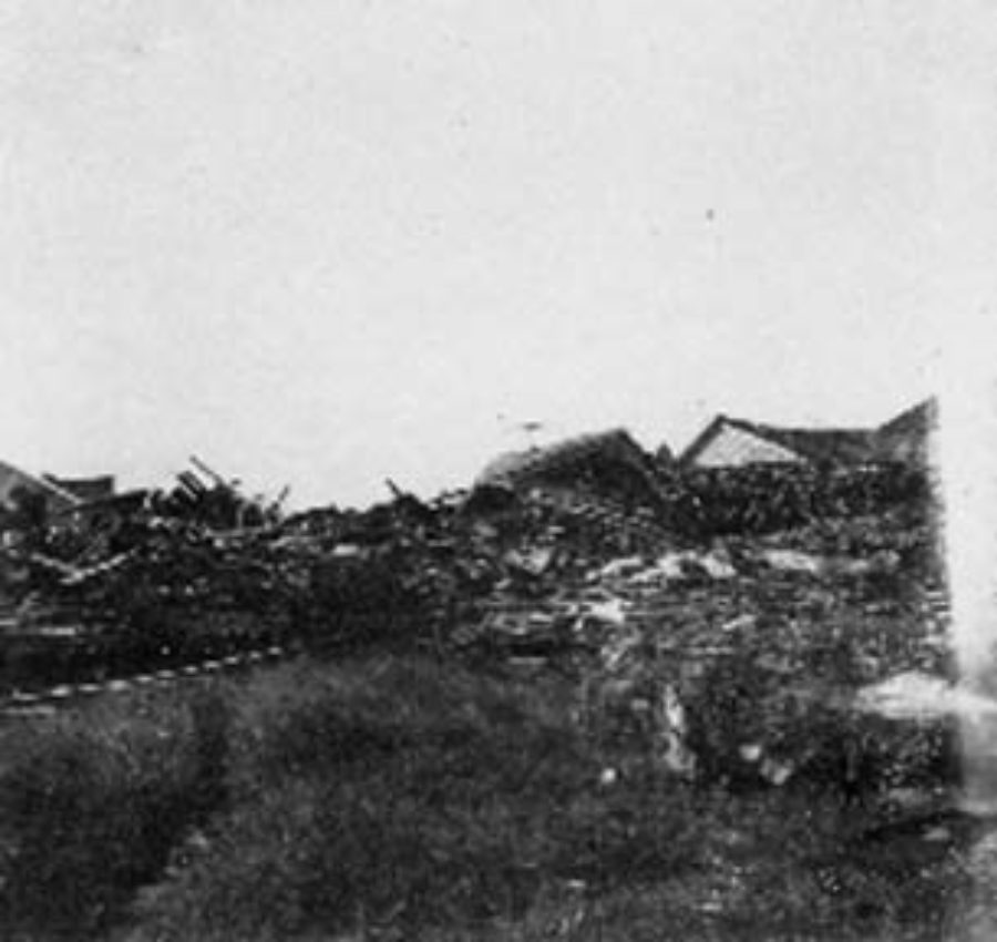 G-1771FF7.5-13 Clearing (foreground) and debris (background)