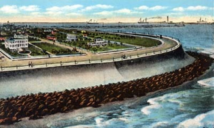 G-5925.3FF3-3 Seawall, Galveston, Texas