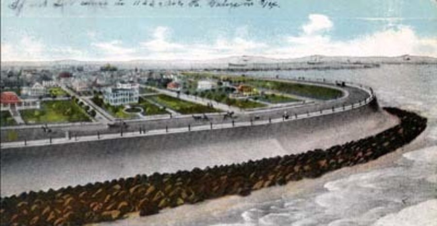 G-5925.3FF3-9 Galveston, Texas.  East End of Sea Wall.
