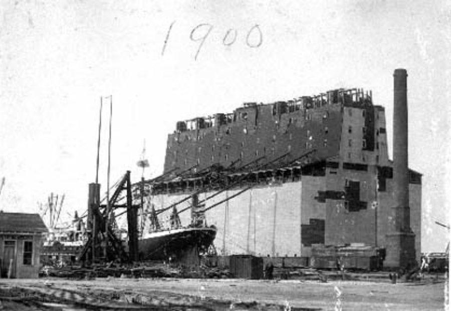 SC#110.1-3 Steamship moored at wharf