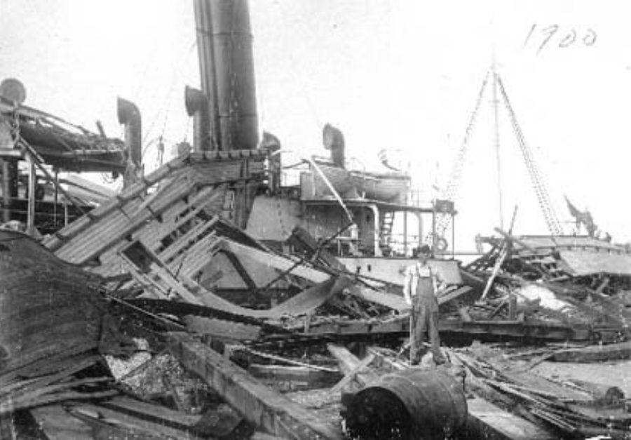 SC#110.1-47 Spanish Steamer at Pier 20
